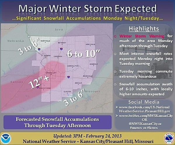 Suggestive Map National Weather Service Winter Storm Rocky
