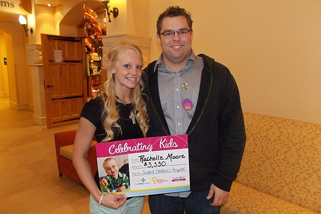 Rachelle Moore and Andy at Cure Kids Radiothon 2013
