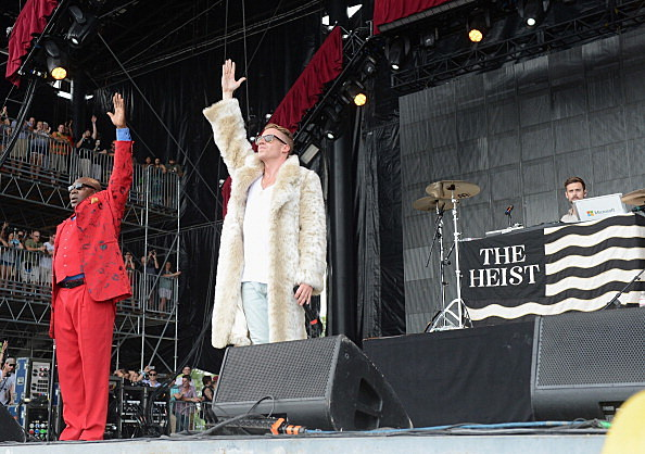 Macklemore and Ryan Lewis perform onstage at  2013 Bonnaroo Music & Arts Festival - Day 4