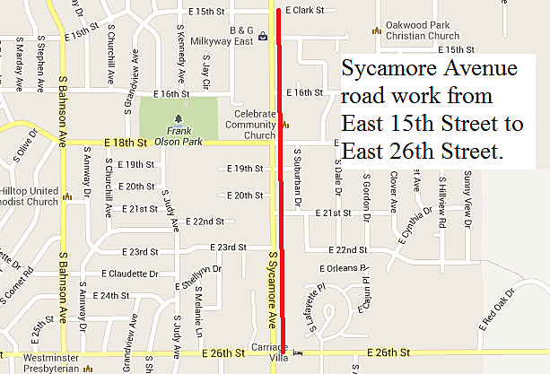 Sycamore Avenue road work