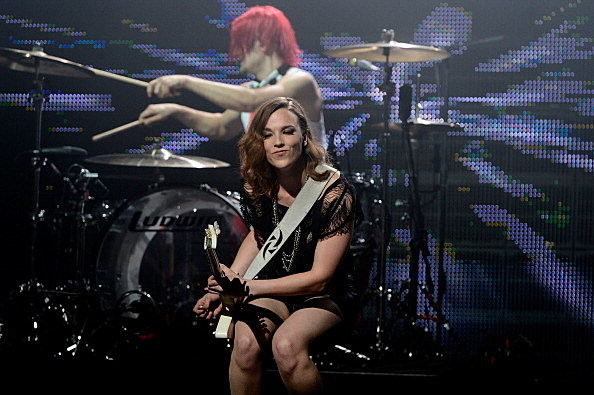 Lzzy Hale  and Arejay Hale of Halestorm perform