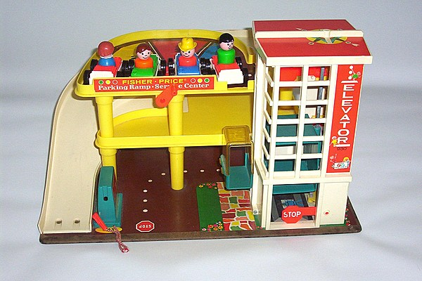 did you have this fisher price parking garage. Black Bedroom Furniture Sets. Home Design Ideas