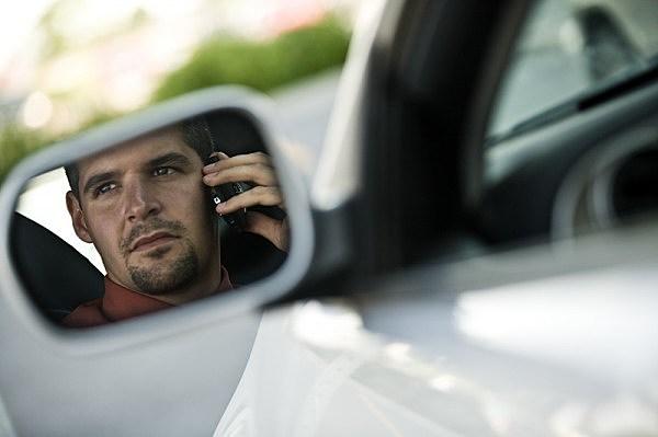 guy in a car