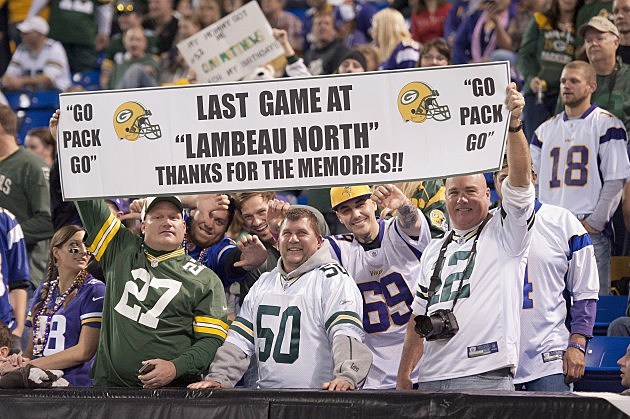 Green Bay Packers at Minnesota Vikings 10/27/2013 - Lambeau North