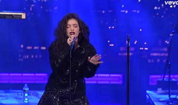 Lorde Live on Letterman