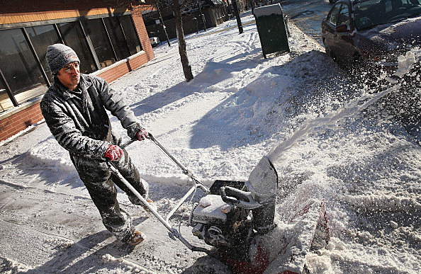 Guy with a snow blower