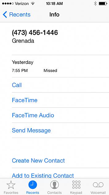 Screengrab of Phone Scam