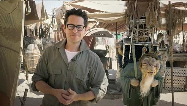 JJ Abrams on the Set of Star Wars