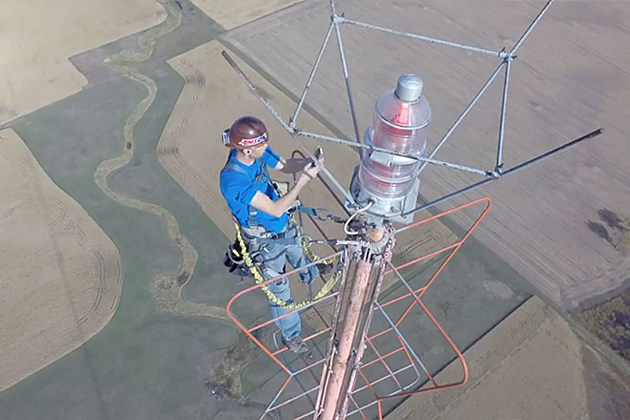 Standing at the Top of a TV Tower
