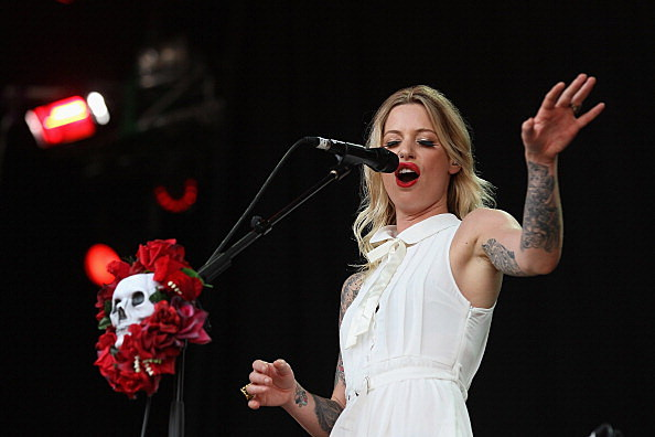 Gin Wigmore performs on stage