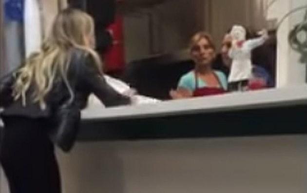 Girl Walks Into Door : Woman rants at restaurant staff then walks into door