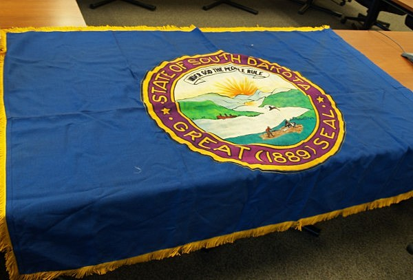 Original State Flag of South Dakota Recovered 2