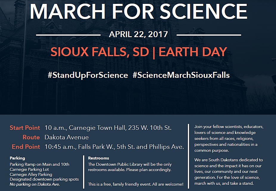 Sioux Falls March For Science Flyer
