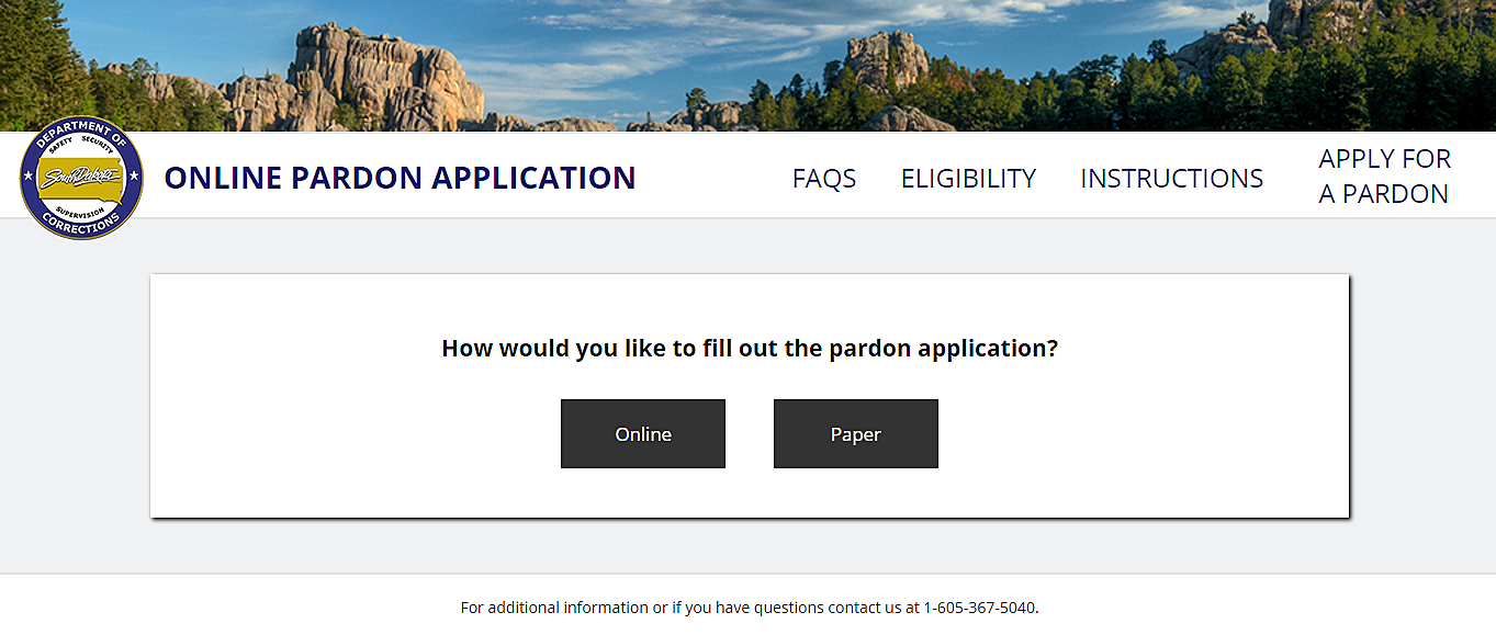 South Dakota Pardon Website