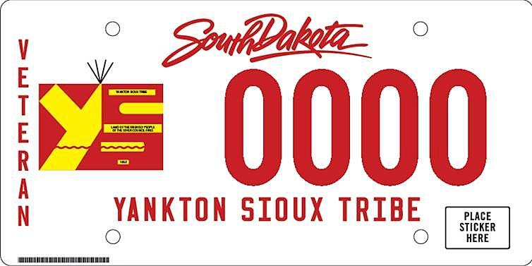 Veteran Indian Tribal license plates