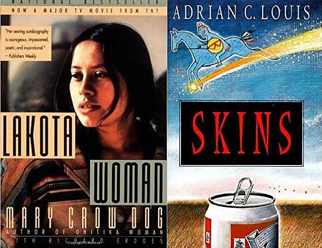 Lakota Woman and Skins